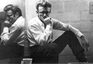 James Dean in a White Shirt